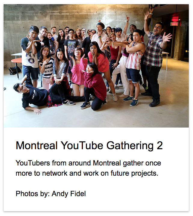 YouTube Montreal Gathering 2 Andy Fidel