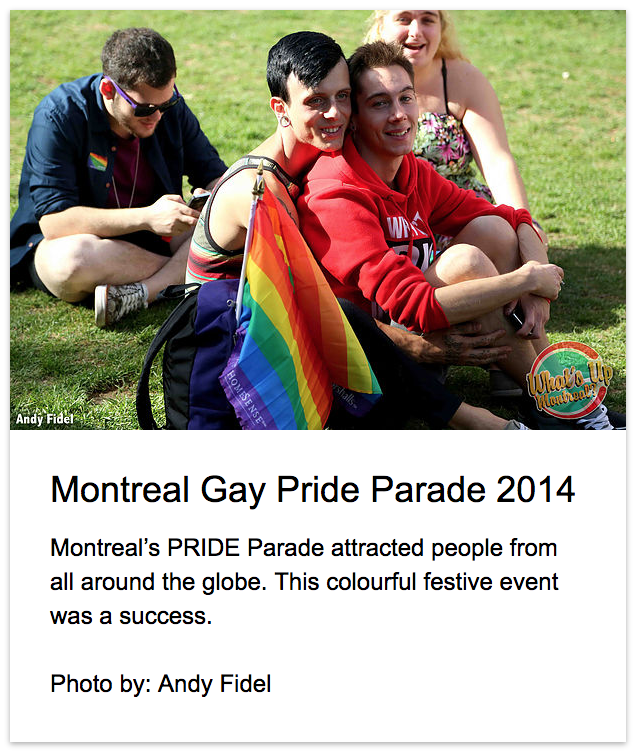 What's Up Montreal? Gaypride Montreal
